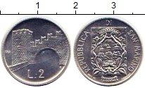 Изображение Монеты Сан-Марино 2 лиры 1988 Алюминий UNC- Архитектура