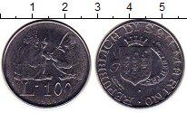 Изображение Монеты Сан-Марино 100 лир 1985 Сталь UNC-