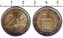 Изображение Монеты Сан-Марино 2 евро 2016 Биметалл UNC-
