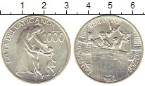 Изображение Монеты Ватикан 1.000 лир 1996 Серебро UNC- Иоанн Павел,дети,пти