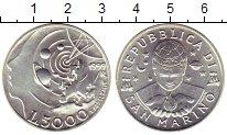 Изображение Монеты Сан-Марино 5000 лир 1999 Серебро UNC- Космос