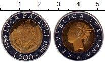 Изображение Монеты Италия 500 лир 1994 Биметалл Proof-