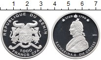 Изображение Монеты Бенин 1000 франков 2004 Серебро Proof