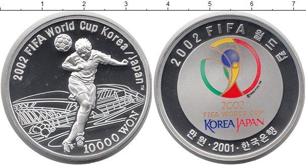 Картинка Подарочные монеты Южная Корея 10.000 вон Серебро 2001