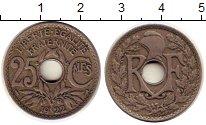 Изображение Монеты Франция 25 сентим 1922 Медно-никель XF
