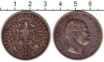Изображение Монеты Пруссия 1 талер 1861 Серебро XF Вильгельм I