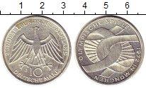 Изображение Монеты ФРГ 10 марок 1972 Серебро UNC- Олимпиада 72