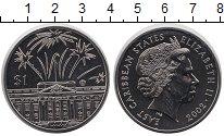 Изображение Монеты Великобритания Карибы 1 доллар 2002 Медно-никель UNC