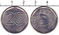 Изображение Дешевые монеты Бразилия 25 сентаво 1995 Железо XF Регулярный выпуск