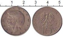 Изображение Дешевые монеты Польша 10 злотых 1975 Медно-никель XF- Адам Мицкевич