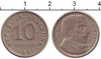 Изображение Дешевые монеты Аргентина 10 сентаво 1951 Медно-никель VF+
