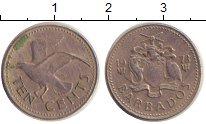 Изображение Дешевые монеты Барбадос 10 центов 1973 Медно-никель VF+