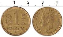 Изображение Дешевые монеты Испания 1 песета 1982 Латунь XF