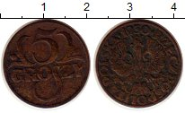 Изображение Монеты Польша 5 грош 1930 Бронза XF