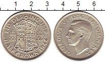 Изображение Монеты Великобритания 1/2 кроны 1944 Серебро UNC-