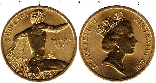 Картинка Монеты Австралия 5 долларов Латунь 2000