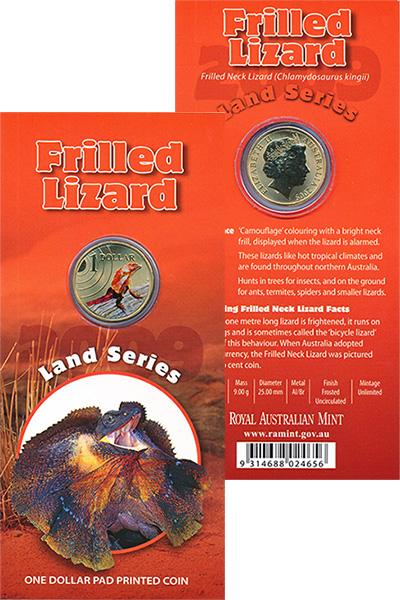 Изображение Подарочные наборы Австралия Земная серия 2009 Латунь UNC Монета номиналом 1 д