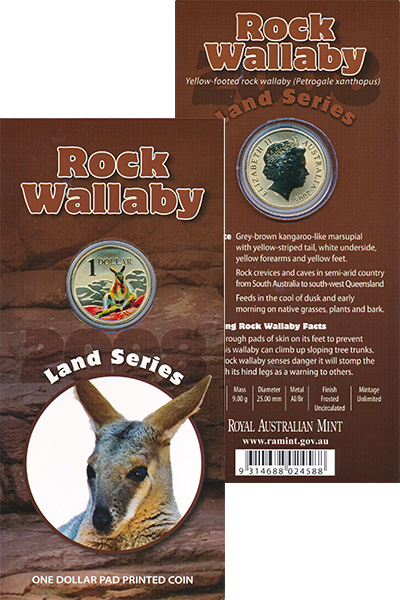 Изображение Подарочные наборы Австралия Земная серия 2008 Латунь UNC Монета номиналом 1 д