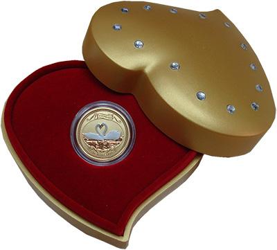 Изображение Подарочные монеты Острова Кука 25 долларов 2008 Золото UNC Монета посвящена вел