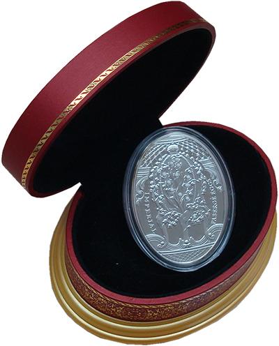 Изображение Подарочные монеты Новая Зеландия Ниуэ Яйца Фаберже 2010 Серебро Proof