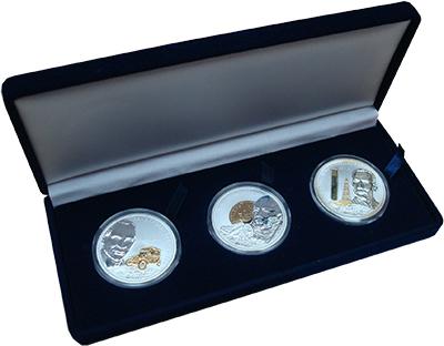 Изображение Подарочные наборы Острова Кука Великие предприниматели 2008 Серебро Proof- В набор входят три м