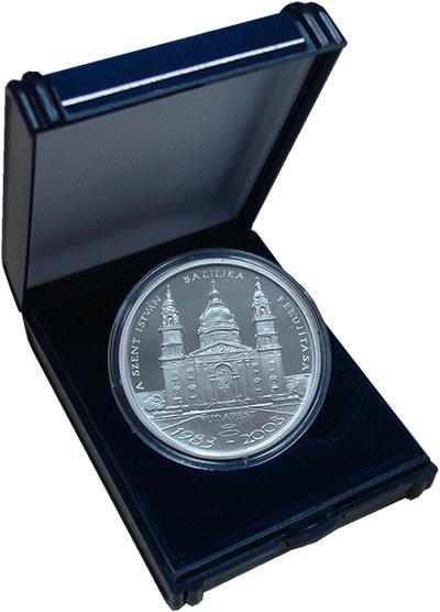 Изображение Подарочные наборы Венгрия Базилика Святого Стефана 2003 Серебро Proof Памятная медаль посв
