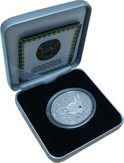 Изображение Подарочные монеты Казахстан 500 тенге 2012 Серебро Proof Монета (серебро 925.