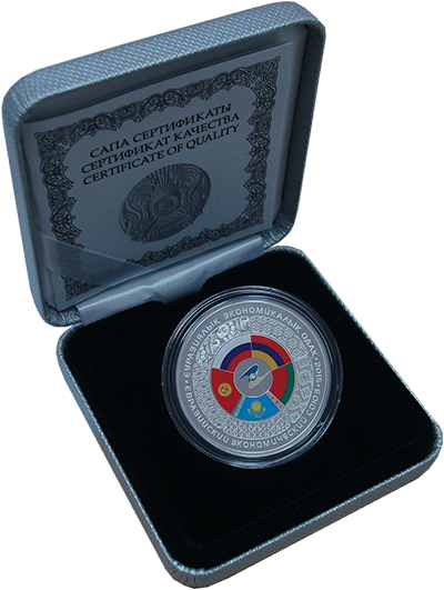 Изображение Подарочные монеты Казахстан 500 тенге 2015 Серебро Proof Монета (серебро 925.