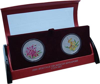 Изображение Подарочные наборы Сингапур Чудесные цветы 2008 Серебро Proof- СерияЧудесные цветы.