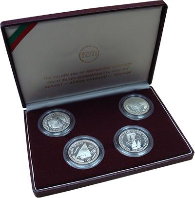 Изображение Подарочные наборы Португалия Великие открытия 1988 Серебро Proof- В набор входят четыр