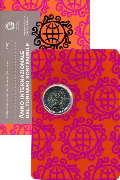 Изображение Подарочные наборы Сан-Марино 2 евро 2017 Биметалл UNC Монета номиналом 2 е