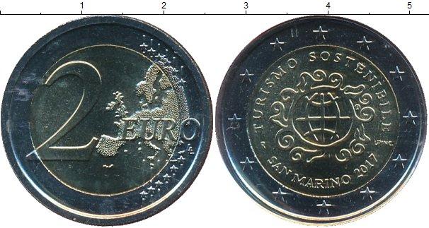 Картинка Подарочные монеты Сан-Марино 2 евро Биметалл 2017