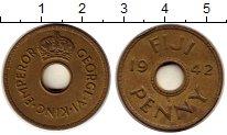 Изображение Монеты Фиджи 1 пенни 1942 Латунь XF