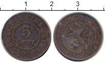 Изображение Монеты Бельгия 5 сантимов 1916 Цинк XF-