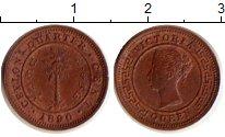 Изображение Монеты Шри-Ланка Цейлон 1/4 цента 1890 Медь UNC-