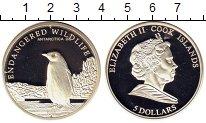 Изображение Монеты Острова Кука 5 долларов 2008 Серебро Proof Охрана дикой природы