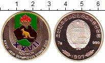 Изображение Монеты Северная Корея 100 вон 1997 Серебро Proof-