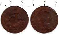 Изображение Монеты Франция 5 сентим 1912 Бронза XF-