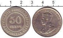 Изображение Монеты Великобритания Стрейтс-Сеттльмент 50 центов 1920 Серебро XF