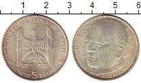 Изображение Монеты ФРГ 5 марок 1978 Серебро UNC- Густав Стресеман