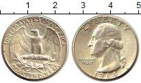 Изображение Монеты США 1/4 доллара 1964 Серебро UNC-