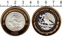 Изображение Монеты Мексика 100 песо 2012 Серебро Proof Наследие мексиканско