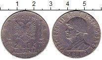 Изображение Монеты Албания 2 лека 1939 Железо XF