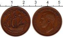 Изображение Монеты Великобритания 1/2 пенни 1948 Медь VF