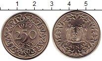 Изображение Монеты Суринам 250 центов 1989 Медно-никель UNC- Герб
