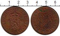 Изображение Монеты Нидерландская Индия 2 1/2 цента 1945 Медь VF