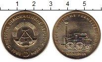 Изображение Монеты ГДР 5 марок 1988 Медно-никель XF А Паровоз Саксония