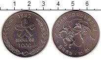 Изображение Монеты Южная Корея 1000 вон 1982 Медно-никель UNC-