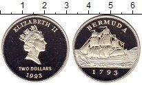 Изображение Монеты Великобритания Бермудские острова 2 доллара 1993 Серебро Proof-