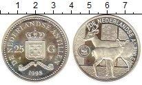 Изображение Монеты Нидерланды Антильские острова 25 гульденов 1998 Серебро Proof-
